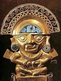 This is a picture of the Sun God, one of the most important gods the Inca believed in.