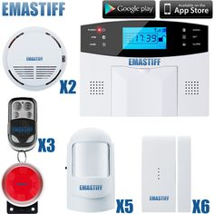 free shipping IOS & android APP control Intercom wireless GSM alarm system security home kits with Russian/French/ Spanish voice #Affiliate