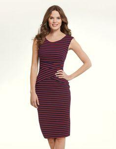 Henley Stripe Dress
