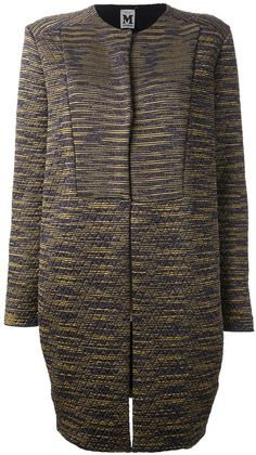 M MISSONI Brown Quilted Coat - Lyst