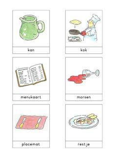 Woordkaarten Bas 'Het pannenkoekenrestaurant' 1