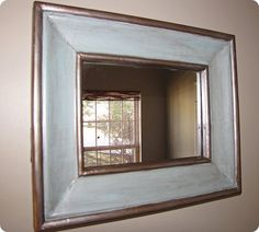 Cool old frame repainted with mirror added