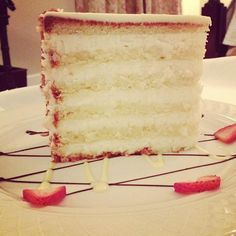 The heavenly coconut cake at Peninsula Grill in Charleston, SC. .