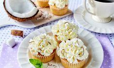 Babeczka z ciasta kruchego z dodatkiem kokosu i delikatną masą śmietankową Miss Cupcake, Sweets, Food, Recipes, Recipies, Gummi Candy, Candy, Essen, Goodies