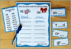Activities for Teaching the oa/ow/oe Digraphs - Make Take & Teach Free Spelling Games, Phonics Games Online, Reading Practice, Teaching Reading, Sorting Activities, Hands On Activities, Family Games Online, Words To Spell, Video Game Quotes