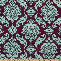Aviary 2 Damask Plum. Joel Dewberry.  Westminster/Rowan Fabrics. $8.98