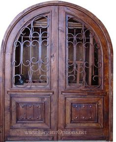 Unique solid wood Spanish style rustic doors and entryways