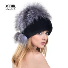 Cheap rex rabbit fur hat, Buy Quality fur hat directly from China rabbit fur hat Suppliers: FANTFUR Women Genuine Knitted Rex Rabbit Fur Hat With Fox Fur Top 2017 Fashion Winter Real Fur Beanie Elasitc WIth Lining Rabbit Fur Hat, Rex Rabbit, Pink Baseball Cap, Beanie Hats, Fur Hats, Fur Accessories, Cloche Hat, Caps For Women, Fox Fur