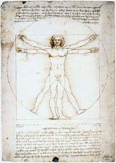 Leonardo da Vinci~the human being representing the golden ratio.
