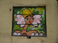 Panama belle painted on a shutter - Photo taken by Amanda Burstall in Panama's Casco Viejo