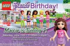 Lego Friends Birthday Invitations Invites Matching Party Favors Available | eBay