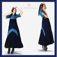 Heading Out? Steal all the attention with this bold teal blue ensemble  #Fashiongoals #FashionDesigner #HardikaGulati