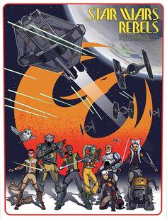 Star Wars Rebels: Spark of Rebellion Created by Timothy Anderson Star Wars Rebels, Sw Rebels, Star Wars Fan Art, Sith, Chevalier Jedi, Nave Star Wars, Rebel Alliance, Ahsoka Tano, Star Wars Poster