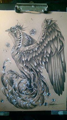 Phoenix Tattoo Sleeve, Phoenix Tattoo Feminine, Phoenix Bird Tattoos, Phoenix Tattoo Design, Phoenix Design, Asian Tattoos, 3d Tattoos, Cover Up Tattoos, Body Art Tattoos