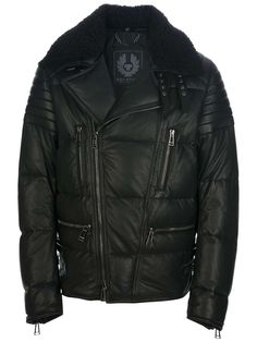 belstaff parka goose down jacket chocolate