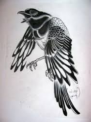 Image result for drawings of hugin and munin