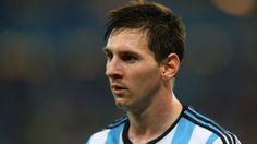 Lionel Messi of Argentina looks on