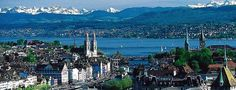 Zurich and Lake Zurich, Switzerland