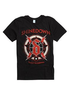 Shinedown Music//Rock//Singer Cotton Shirt Round Neck Short Sleeve Tee for Teen Boys and Girls Classic Fit Black