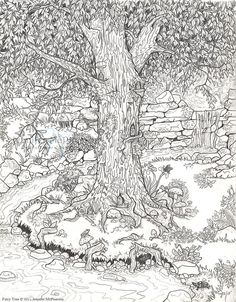 Because I like to color! FAIRY GARDEN COLORING PAGE. For the little ones and grown-ups.: