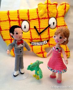 pee wee and company in crochet i tip my hook!
