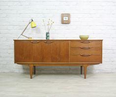 RETRO VINTAGE TEAK MID CENTURY DANISH STYLE SIDEBOARD EAMES ERA 1950s 60s | eBay