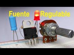 Fuente Regulada de voltaje variable (LM317) Variar velocidad Motor - YouTube