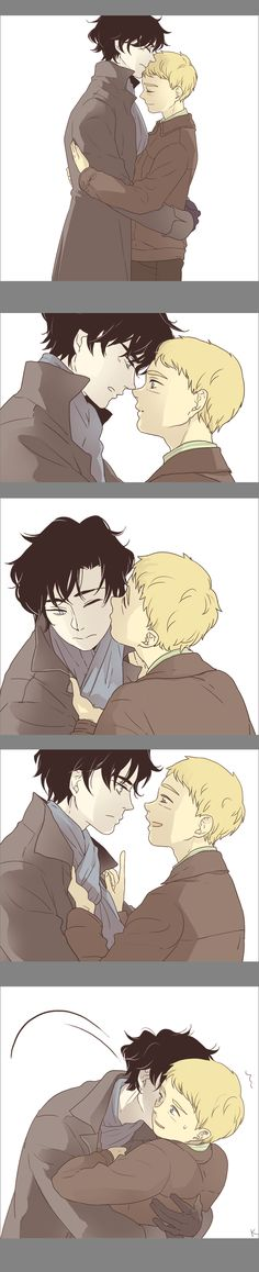 johnlock hugs day in day out