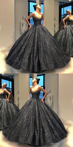 Ball Gown Bling Black Prom Dress Floor-Length Sequins Quinceanera Dress Sweet 16 Dresses for Girls Ombre Prom Dresses, Black Party Dresses, Sweet 16 Dresses, Sweet Dress, Prom Party Dresses, Quinceanera Dresses, Peacock Flower Girl Dress, Debut Gowns, Beautiful Dresses