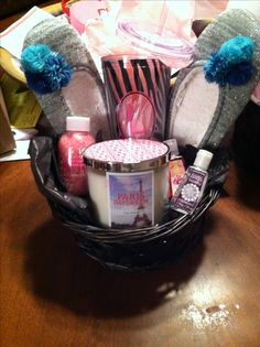 This is the inspiration for two gift basket ideas. One is a make ...