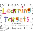 This packet includes pictures and directions to turn an ordinary pocket chart into a place to display learning targets, objectives, or standards in...
