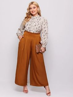 Curvy Outfits, Plus Size Outfits, Summer Work Outfits Plus Size, Coulottes Outfit, Looks Plus Size, Professional Outfits, Plus Size Fashion, Formal, Cullottes