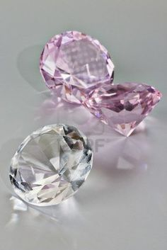 pink and white diamonds