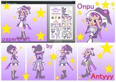 Onpu (Ojamajo Doremi) papercraft by Antyyy.deviantart.com on @DeviantArt