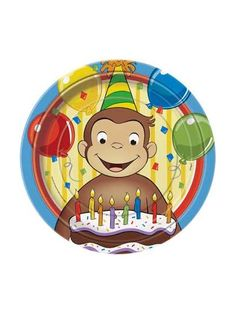 Celebrate with the Curious George Dinner Plates for your party. Find amazing selections and prices on all birthday decorations & supplies at Birthday in a Box.