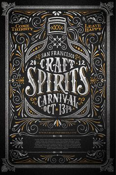 // Craft Spirits Carnival #poster #typography