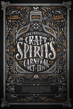 Craft Spirits Carnival #poster #typography