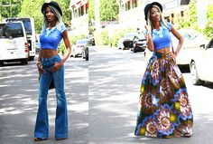 Wide-leg Jeans and African Print will definetly ROCK this Summe of 2016.