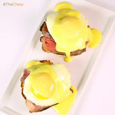 Steak & Eggs Benedict by Clinton Kelly! #TheChew #Easter #Brunch