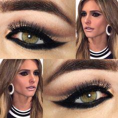 Tutorial – a maquiagem com super delineado de Fernanda Lima em Superstar