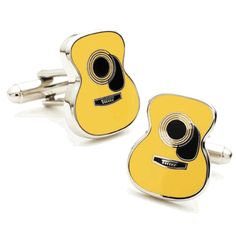It is a Guitar New cufflink. This is a great set of music guitar cuff links! Great for that rocker or musician in your life! #cufflinks #fashion