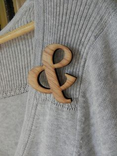 always have a ampersand on. My new brooches