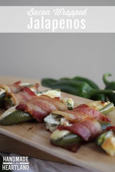 Bacon Wrapped Jalapenos, Great party food! HandmadeintheHeartland.com