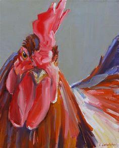 "Daily Paintworks - ""good morning"" - Original Fine Art for Sale - © Carol Carmichael"