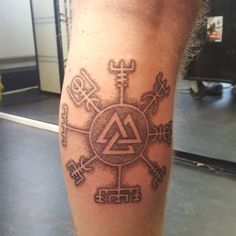 Finally my very first tattoo! A mix of vegvisir and valknut symbols. Been thinking of getting a tattoo since I was around 14 and finally it became true. Hopefully many more are to come!