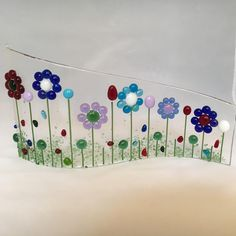 Floral Glass S Curved Plaque, Floral Candle Display Fused Glass, Kilnformed Glass, Home Decor, Gift for her, Birthday Gift , Christmas Gift by WarmGlassFusion on Etsy Stained Glass Crafts, Fused Glass Jewelry, Platter, Tuesday, Bubble, Art Ideas, Birthday Gifts, Gifts For Her, Candle