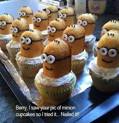 Minions Birthday cupcakes! www.gobuylocal.com
