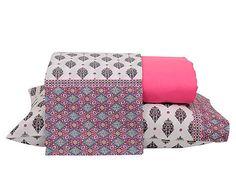 Jogo de lençol debbie indie - para cama queen size