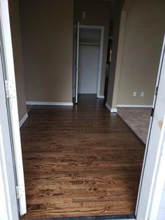 This is a red oak floor refinished with water popped #duraseal dark walnut stain in Portland Oregon. #woodfloor #refinish #resurface #refurbish #portland #oregon #hardwoodflooringred