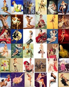 Pin up girls...absolutely love them?  How does one feel so strongly about incarnating at the wrong time? Class with a touch of tramp! ;) Curves were all the rage!